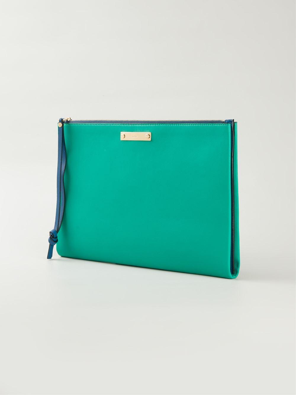 Chlo�� Classic Clutch in Green | Lyst