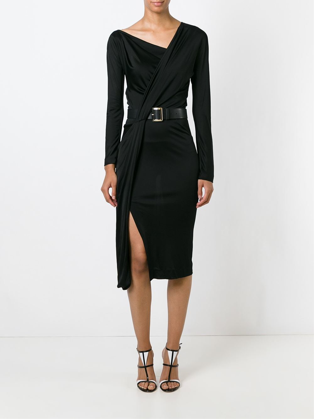 dsquared 178 belted dress in black lyst