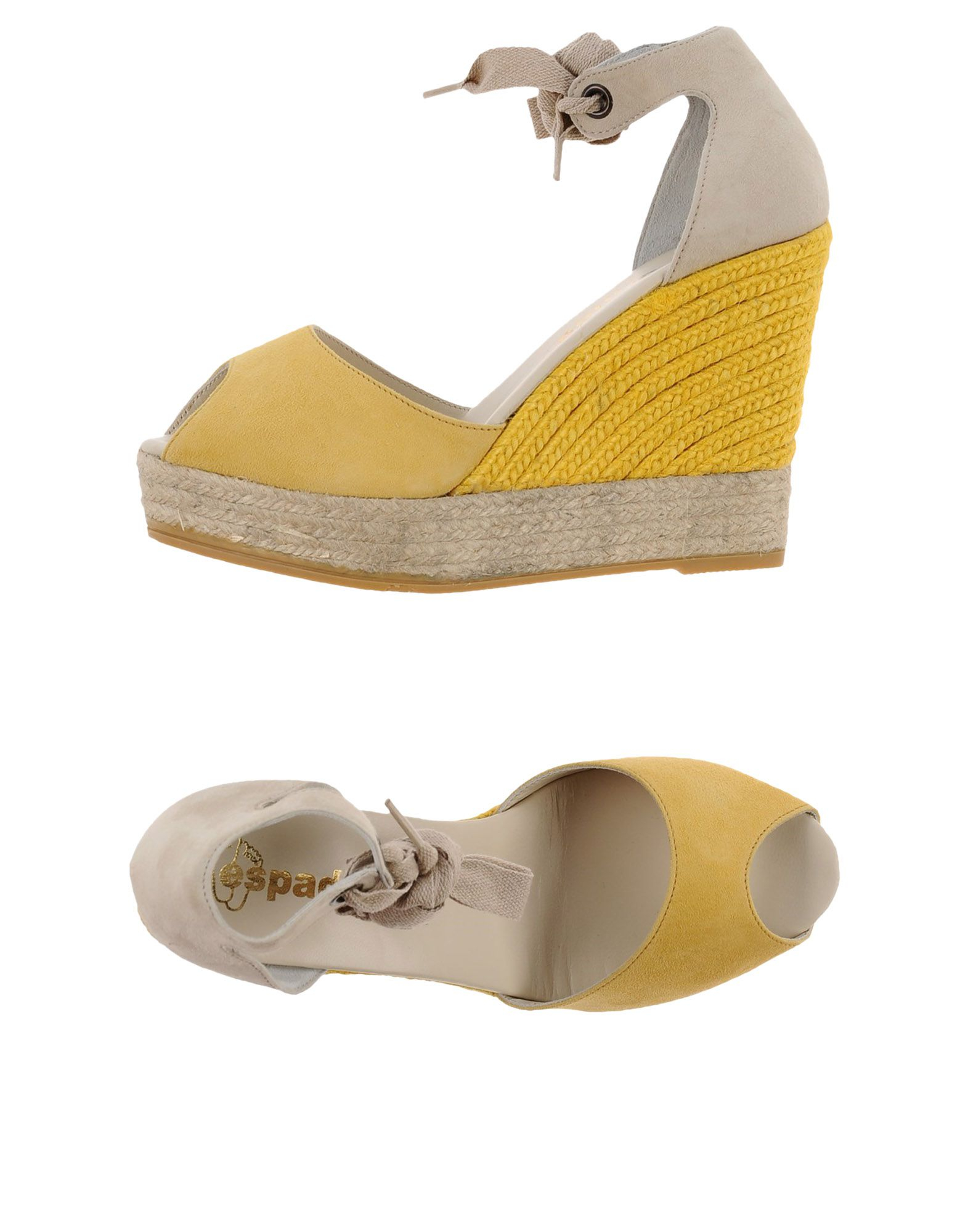 espadrilles wedges wedge sandals in yellow lyst
