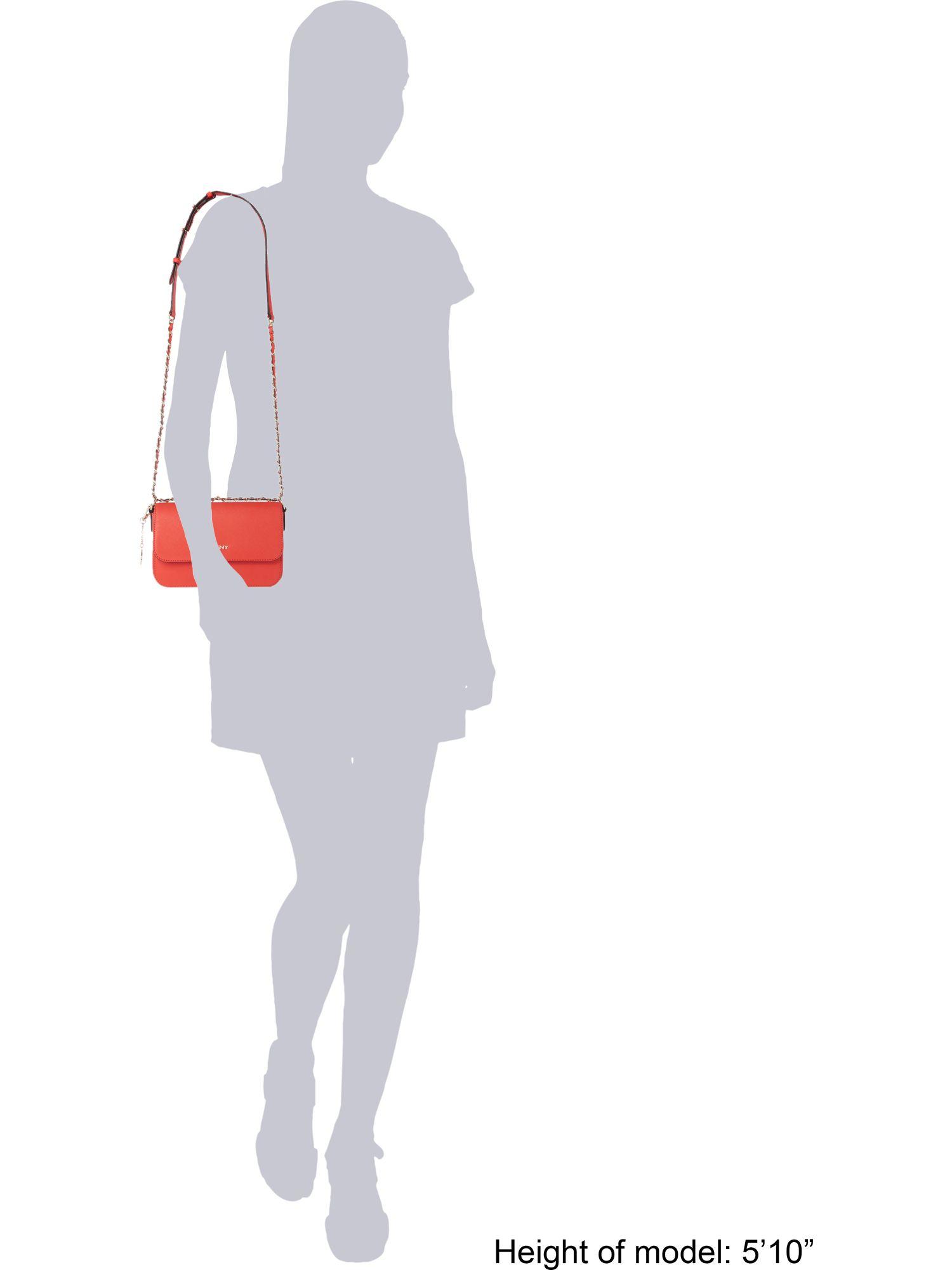 DKNY Saffiano Orange Small Cross Body Bag