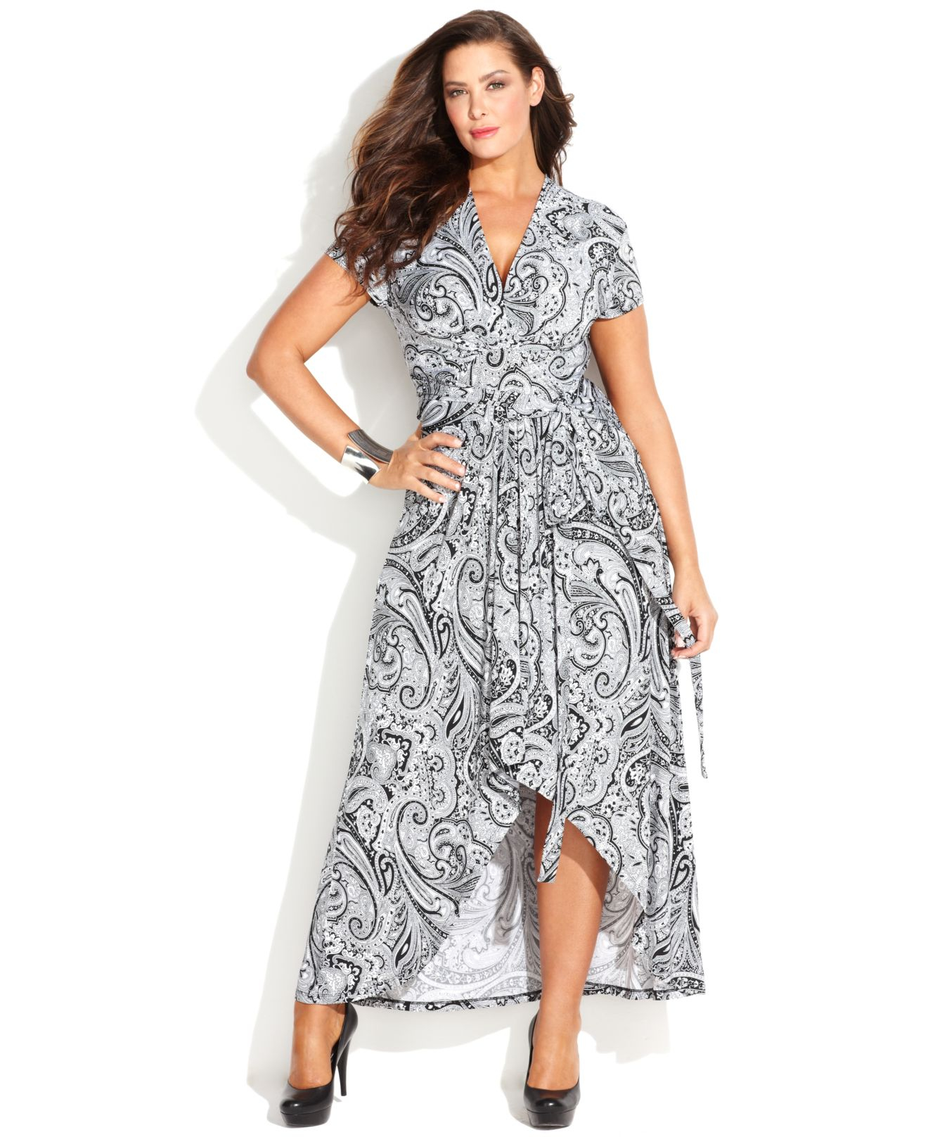 046c45d58e2 Long Black Wrap Dress Plus Size - Gomes Weine AG
