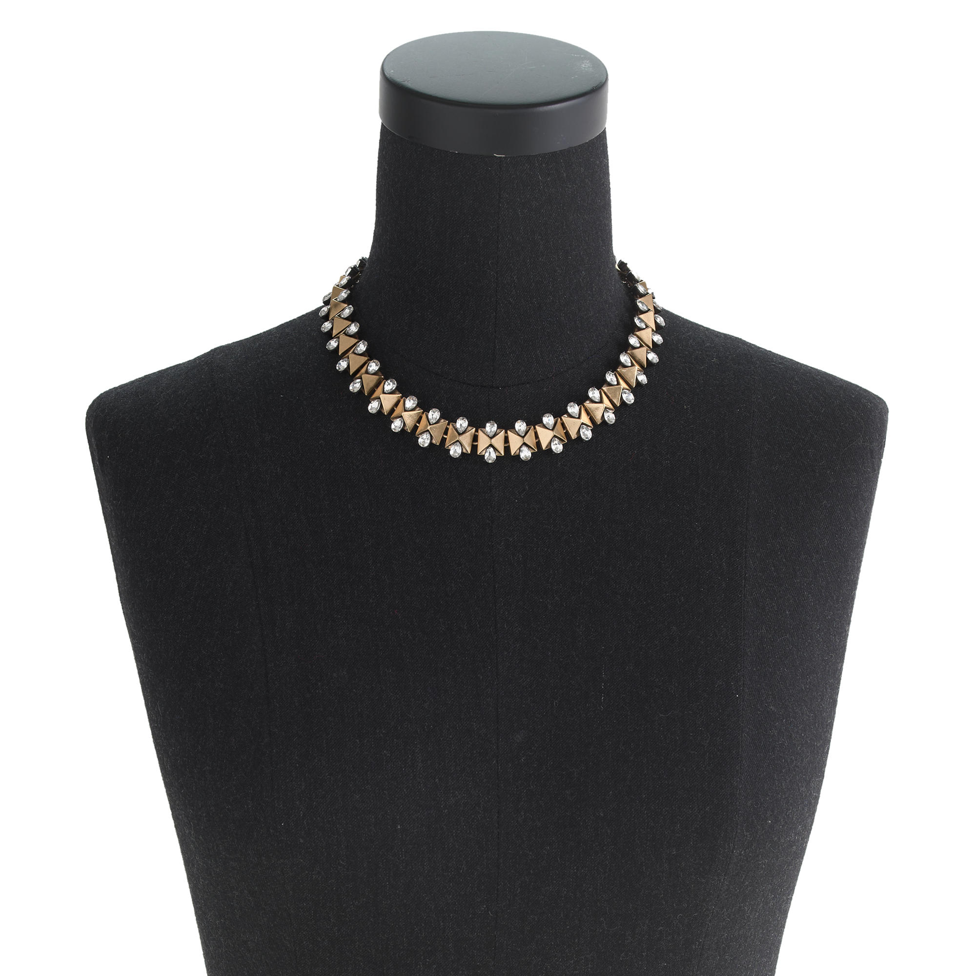 J.Crew Crystal Bow-tie Necklace in Antique Gold (Metallic)
