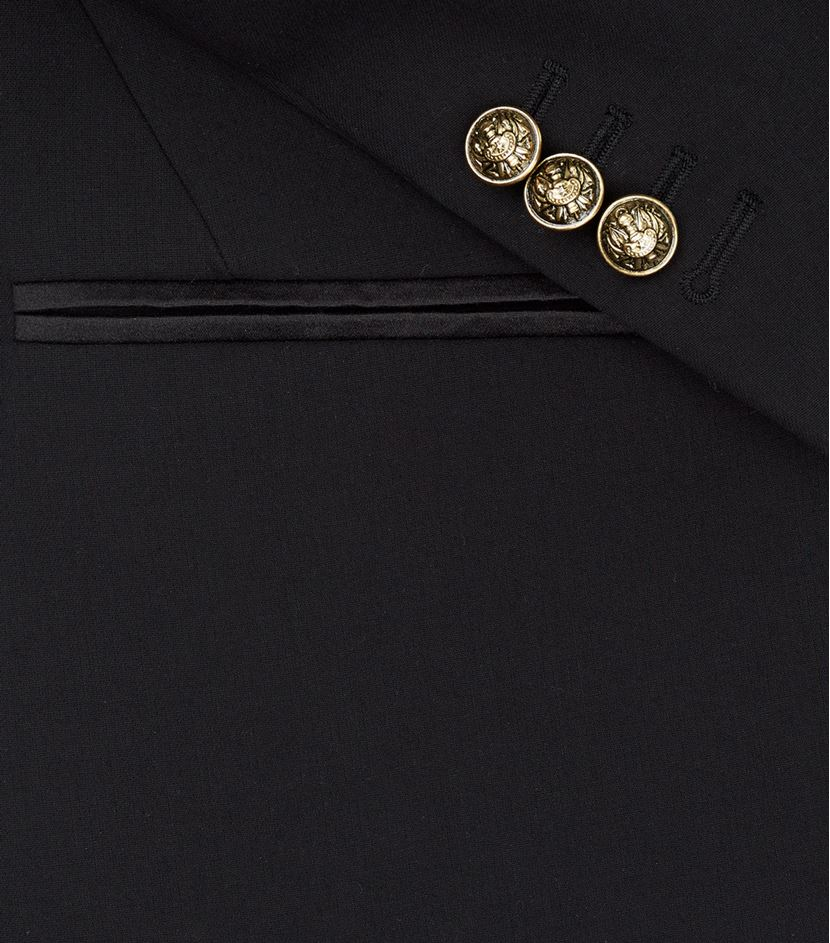 Balmain Spencer Gold Chain Lapel Jacket in Black for Men