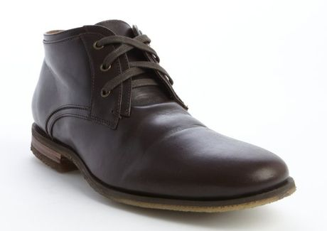 varvatos espresso leather lace up low cut boots in