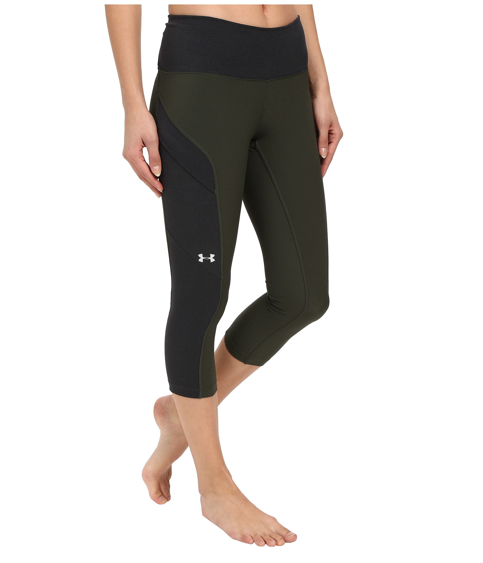 4932b610812 Lyst - Under Armour Ua Armourvent Trail Capri Pants in Natural