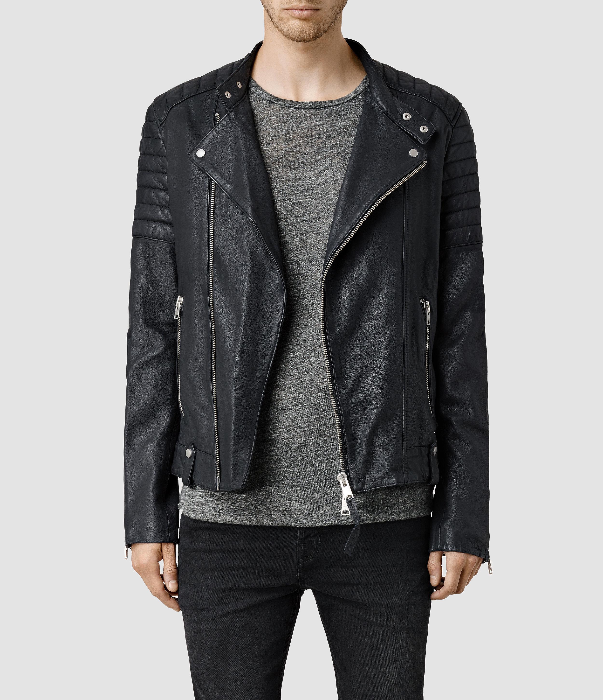 026bb3f9f6 AllSaints Jasper Leather Biker Jacket in Black for Men - Lyst