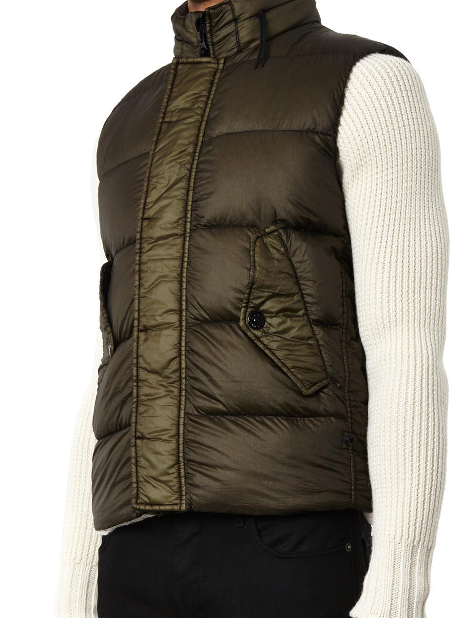 Lyst Stone Island Garment Dyed Lightweight Quilted Gilet