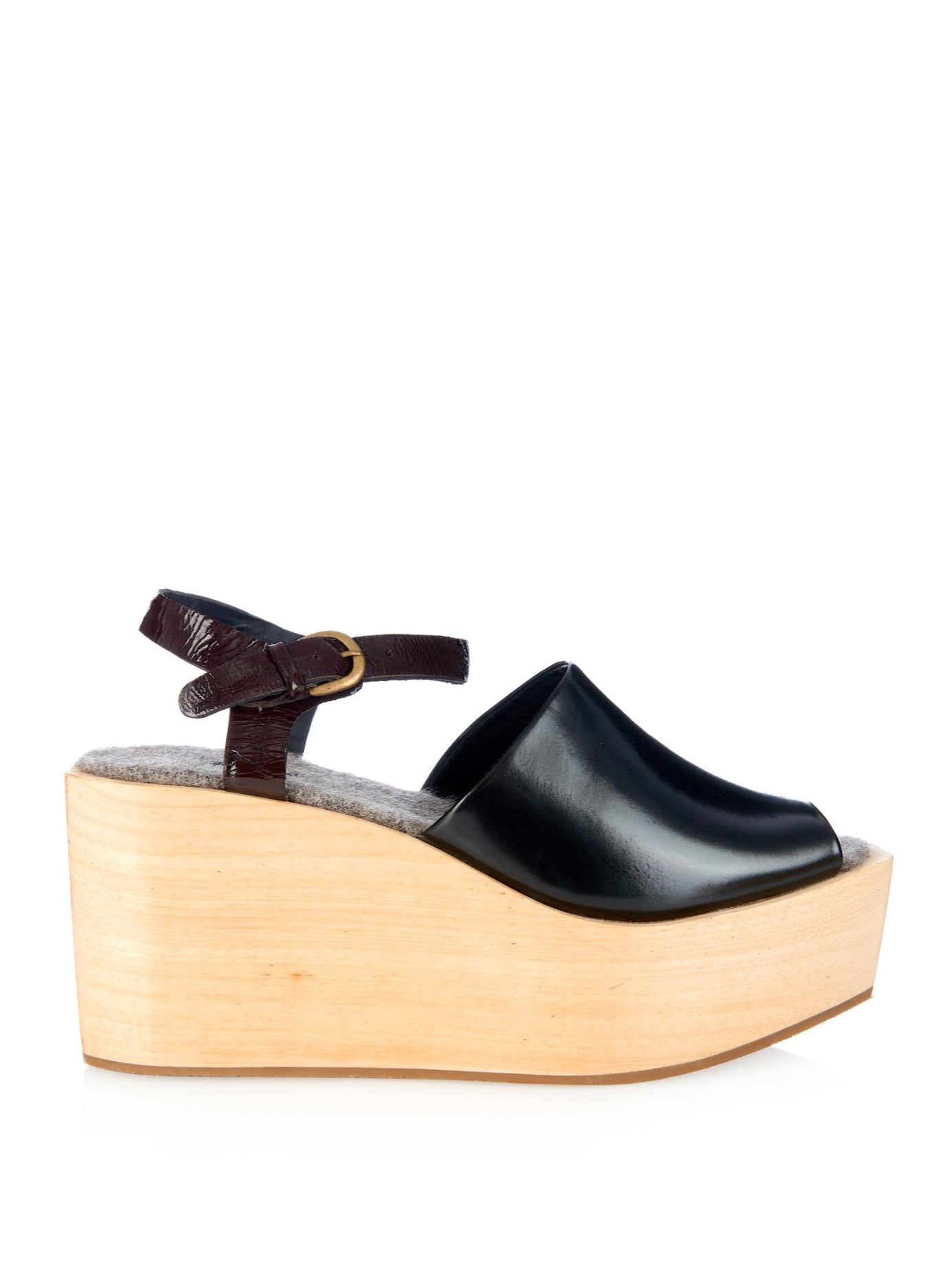 cost online clearance online cheap real Rachel Comey Leather Platform Wedges 5TmKhpoYFw