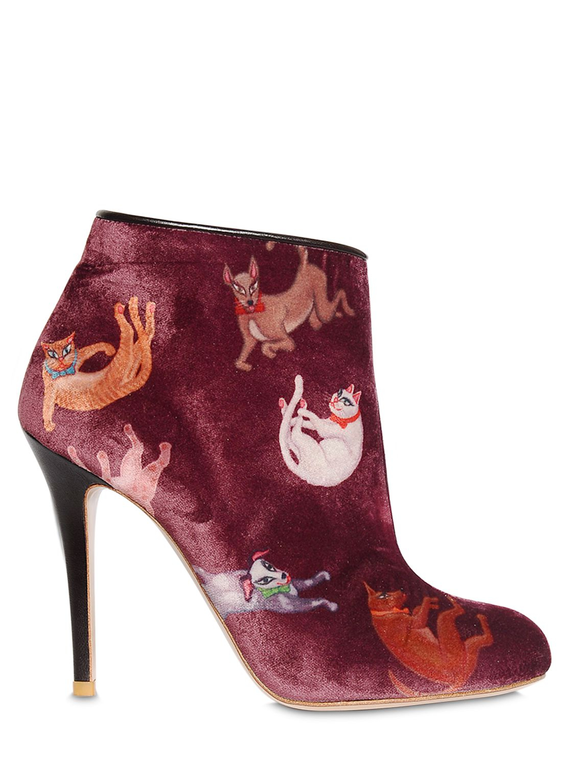 Lyst Camilla Elphick 105mm Raining Cats Amp Dogs Velvet Boots