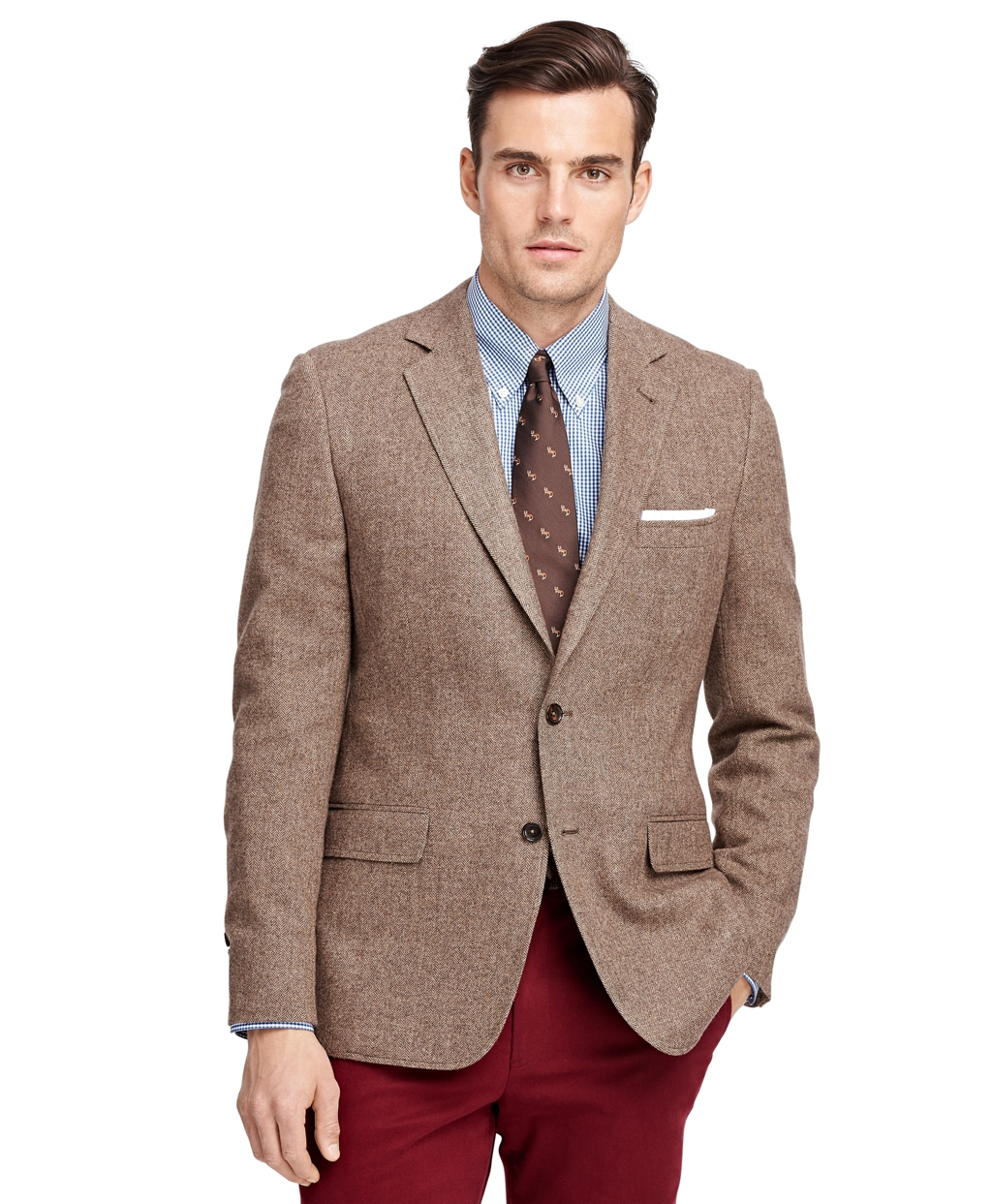 Brooks Brothers Fitzgerald Fit Herringbone Sport Coat In