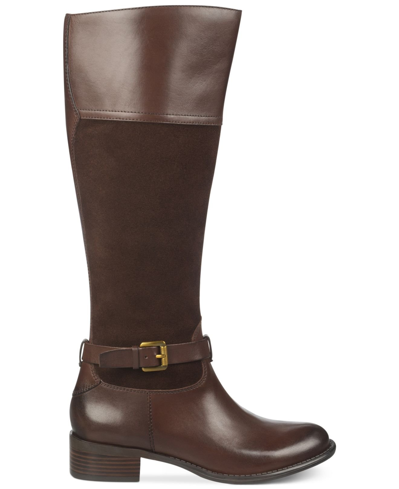 Franco Sarto Corda Wide Calf Tall Boots In Brown Lyst