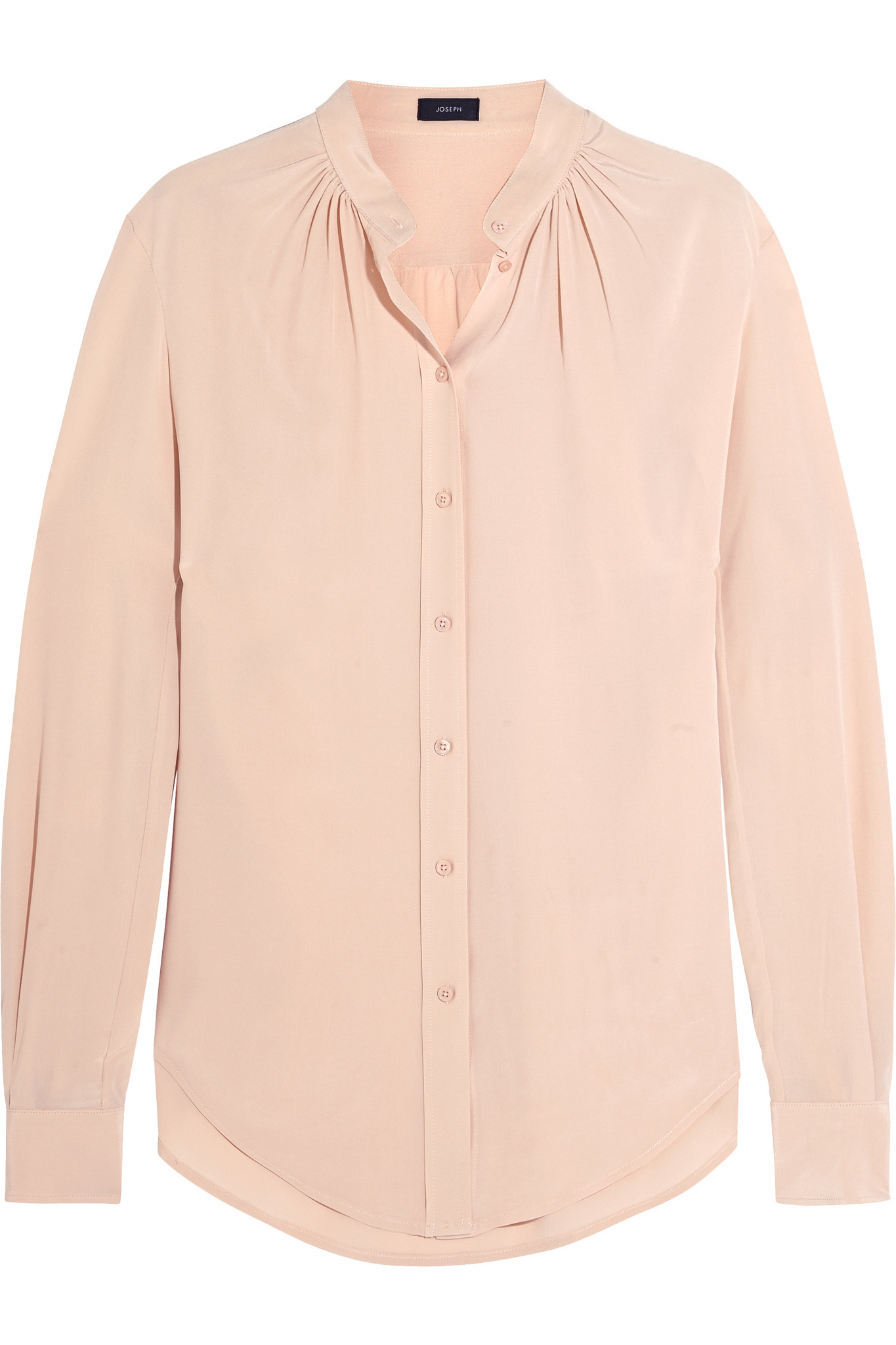 63335708e0f8d JOSEPH Carly Silk Crepe De Chine Blouse in Pink - Lyst