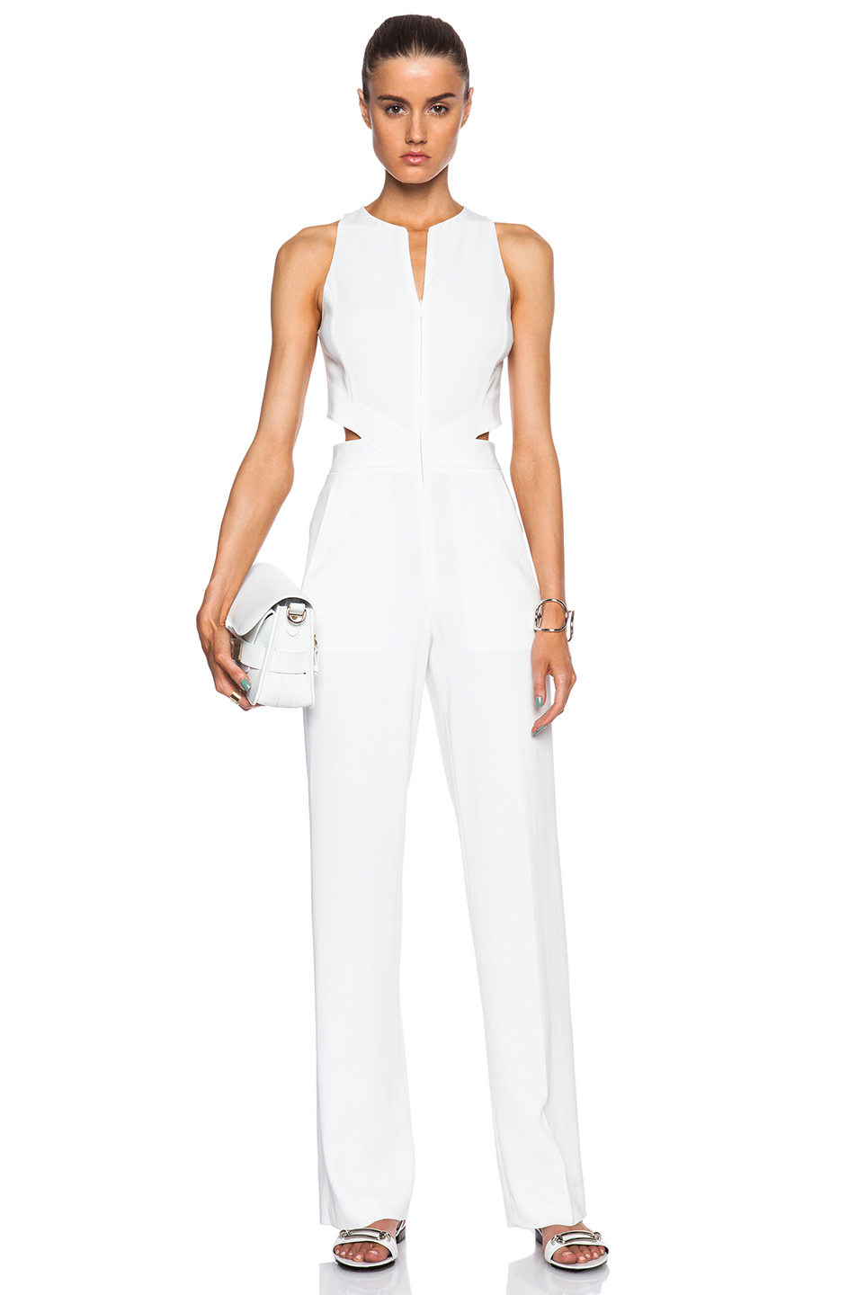 A L C Chandler Jumpsuit In White Lyst