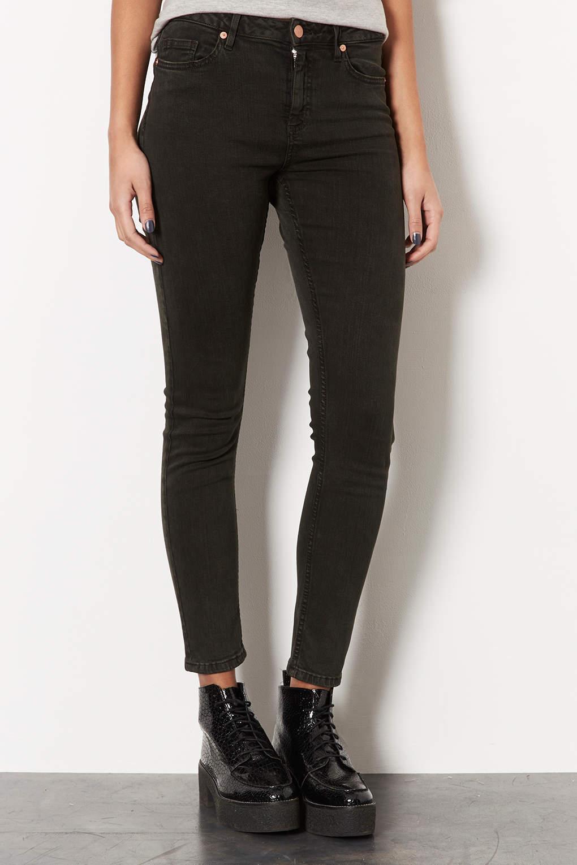 Topshop Moto Forest Jamie Jeans in Black | Lyst
