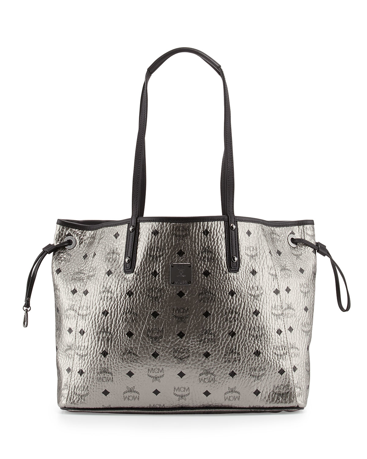 mcm shopper project visetos reversible tote bag in silver lyst. Black Bedroom Furniture Sets. Home Design Ideas