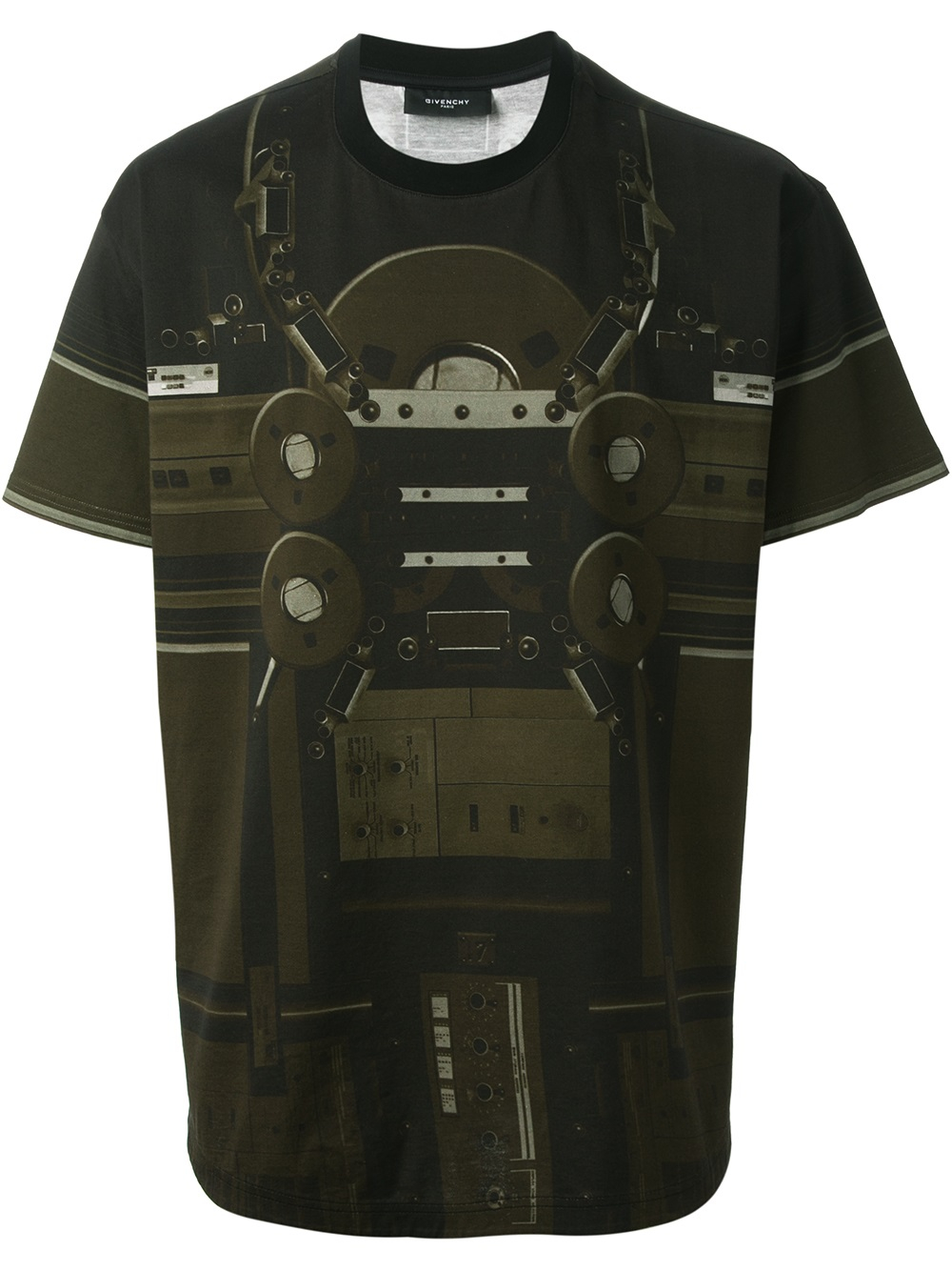Givenchy Radio Print Tshirt In Green For Men Lyst