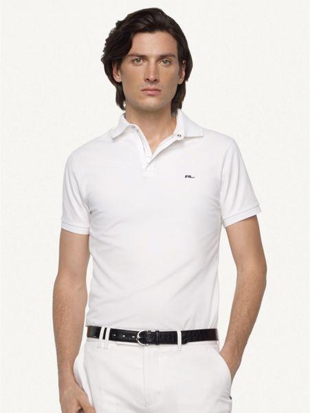 Ralph lauren black label mesh zip collar polo shirt in for Ralph lauren black label polo shirt
