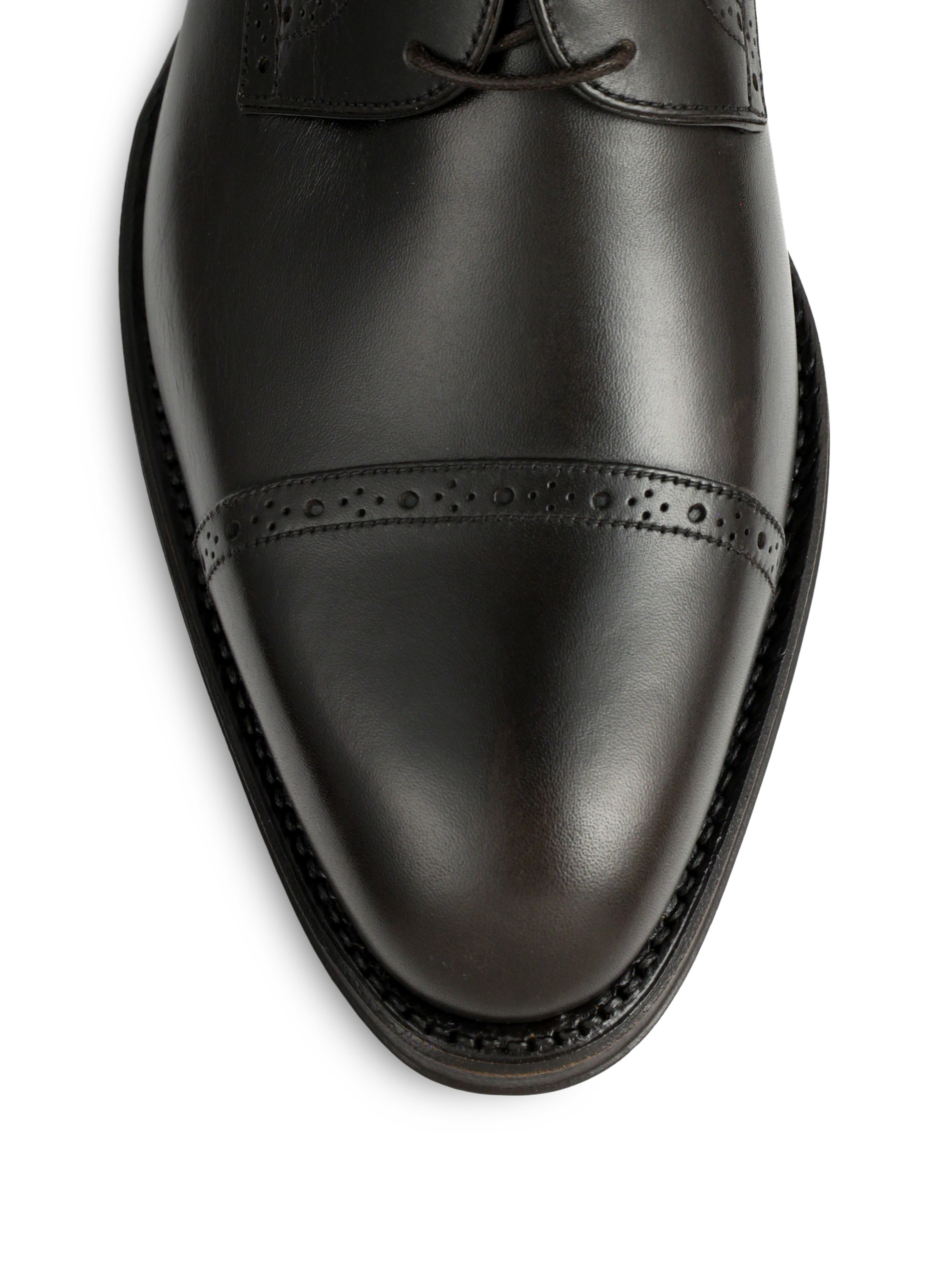 bally givan leather derby shoes in brown for lyst