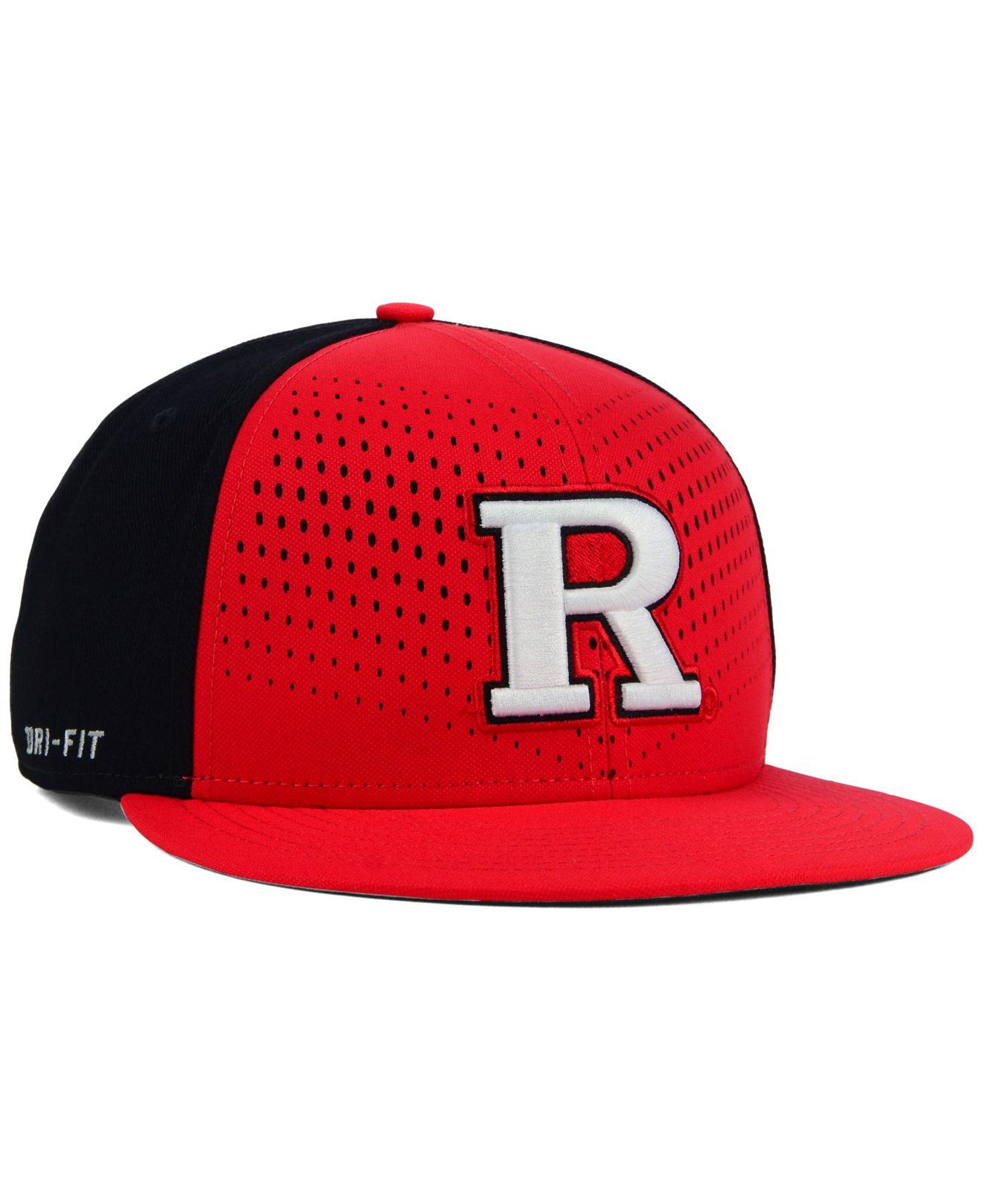 Lyst - Nike Rutgers Scarlet Knights True Seasonal Snapback Cap in ... 33d66ffac20