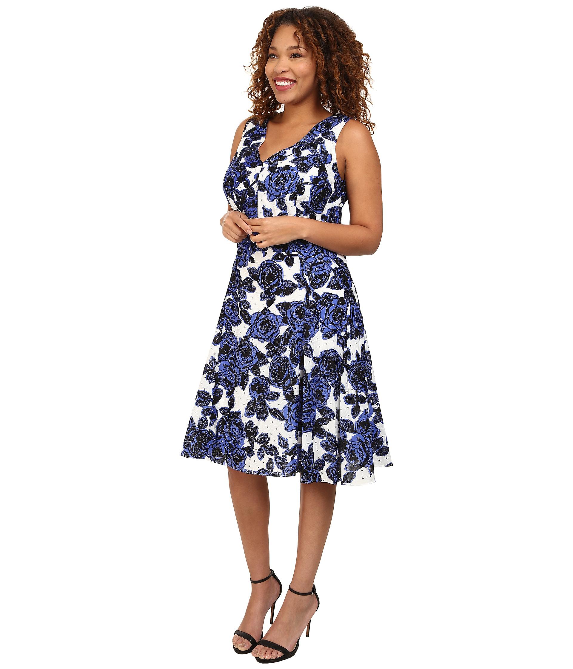 Plus Size Back Interest Fit & Flare Dress