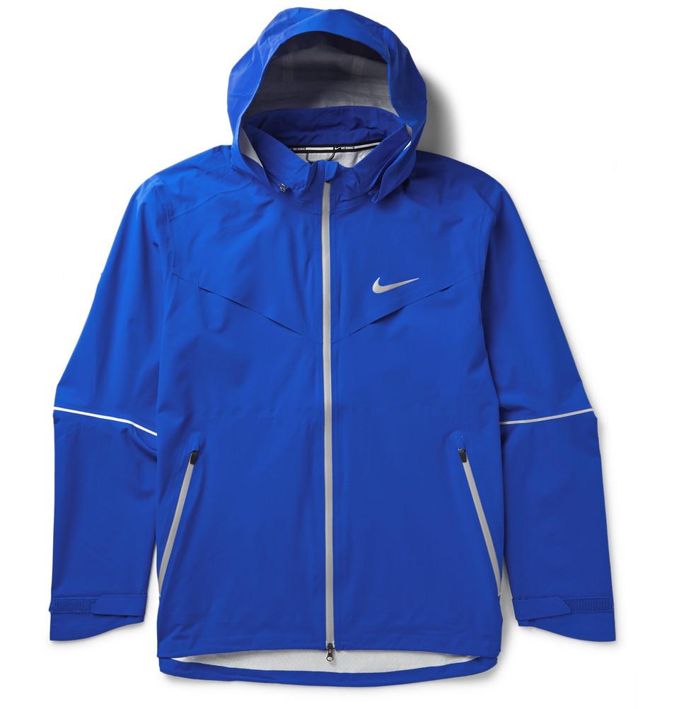 Lyst Nike Rain Runner Hooded Shell Running Jacket In
