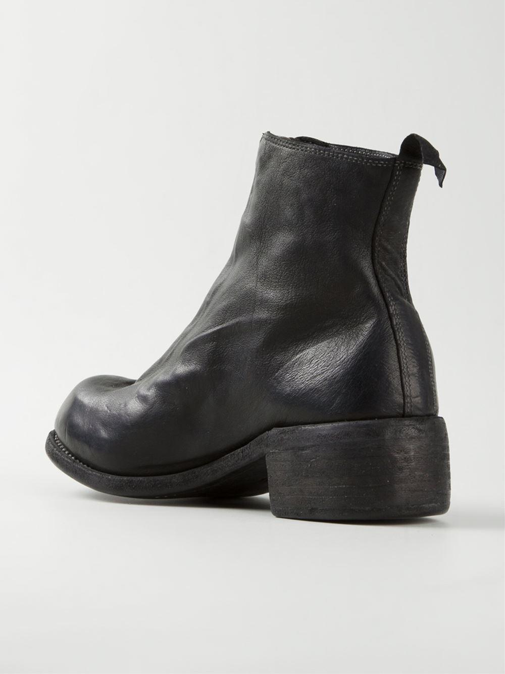 Bottines Zippées Guidi - Noir LyShkzp