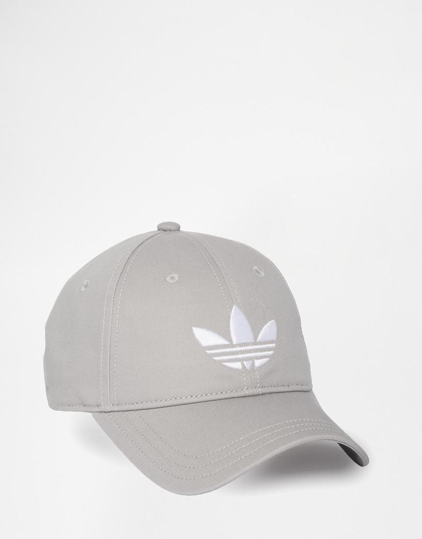 Lyst - adidas Originals Trefoil Cap in Gray 153833b99b