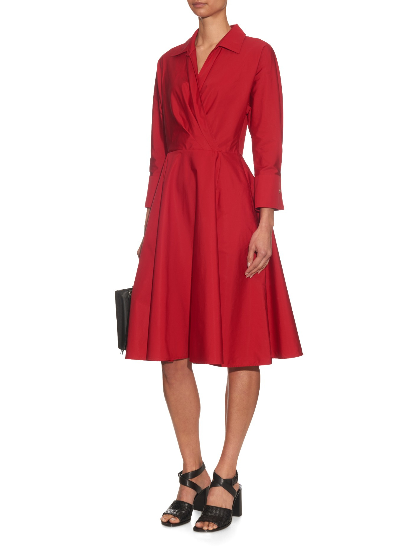 Max Mara Lollo Cotton Dress In Red Lyst