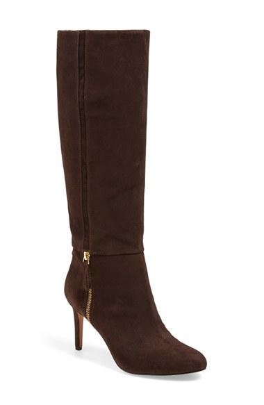 nine west vintage boot in brown brown suede