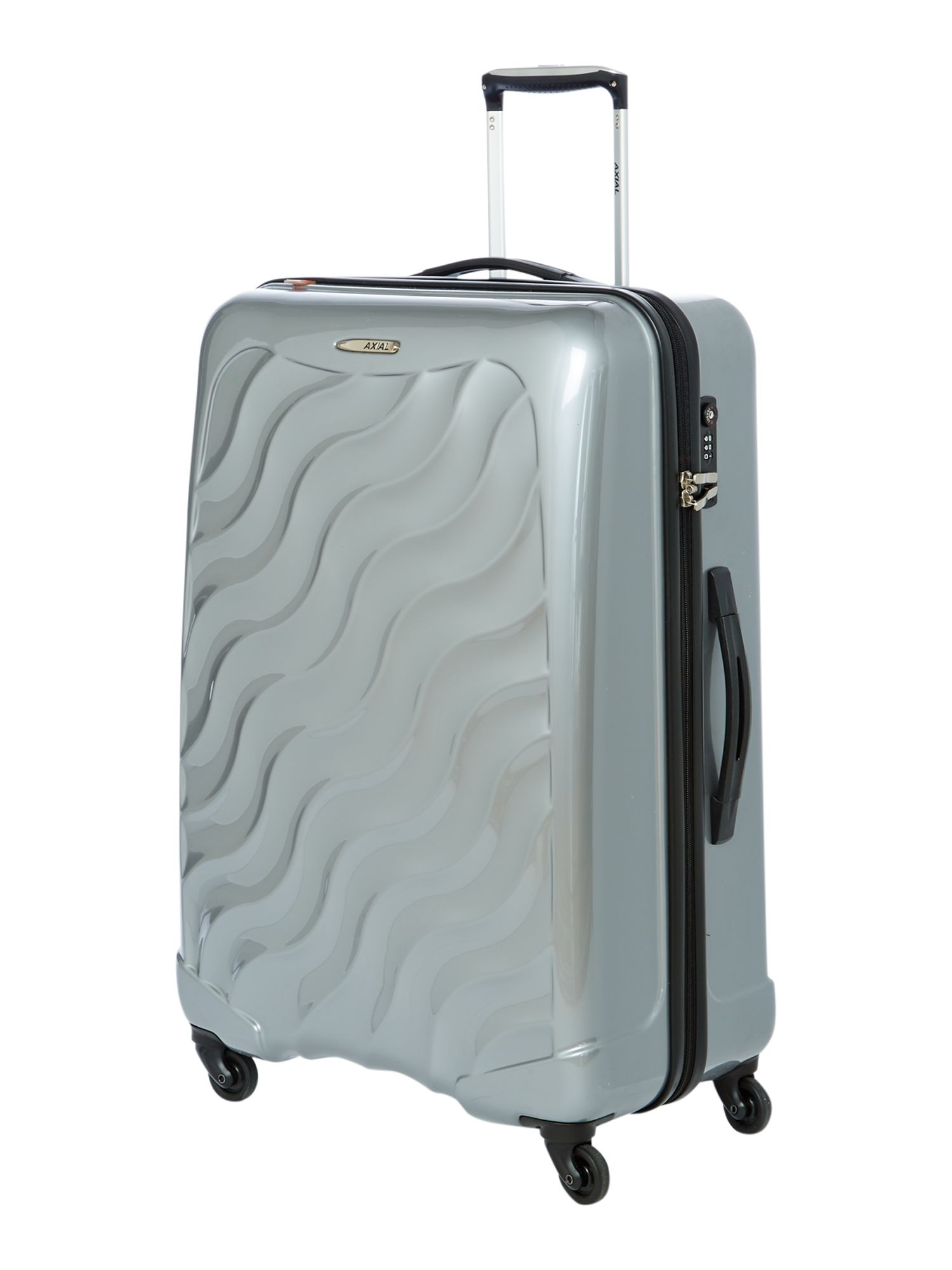 Delsey Axial Large 4 Wheel Silver Suitcase in Metallic for Men | Lyst