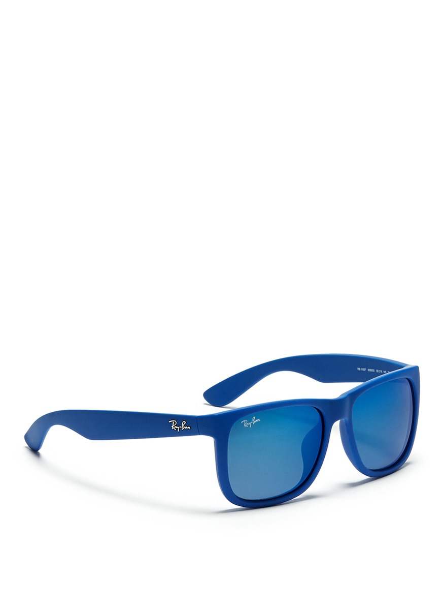 Ray-Ban 'justin' Matte Acetate Sunglasses in Blue