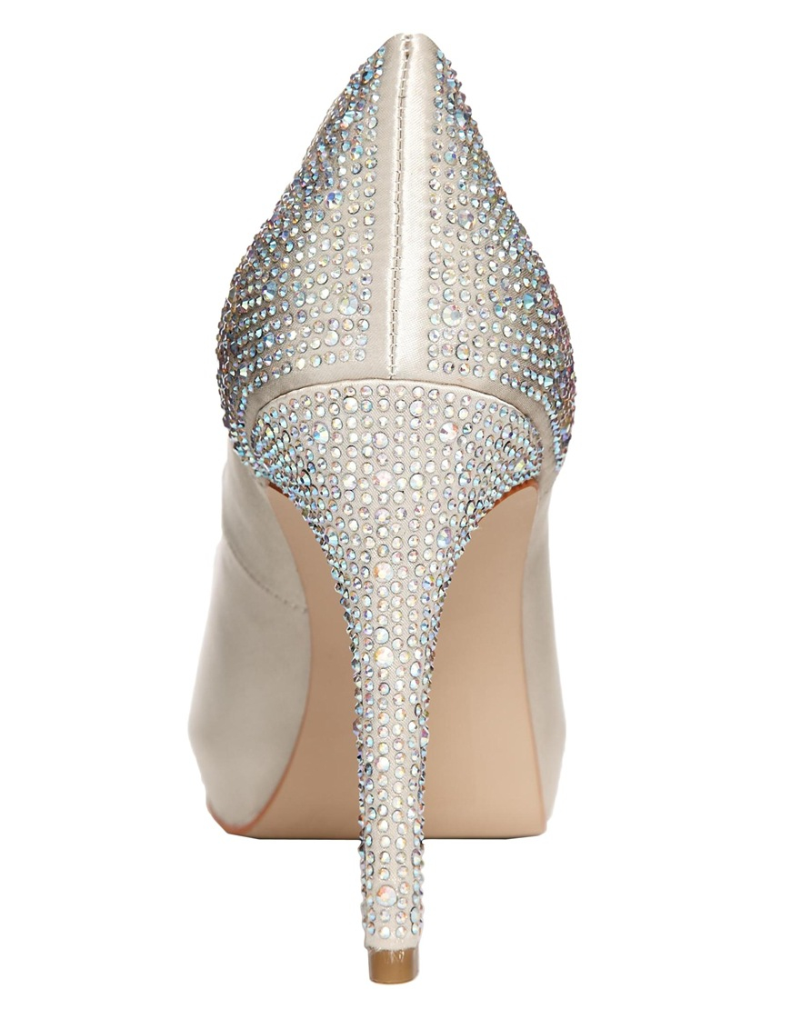479ce0a5e22 Carvela Kurt Geiger Metallic Juliette Platform Glitter Heeled Shoes