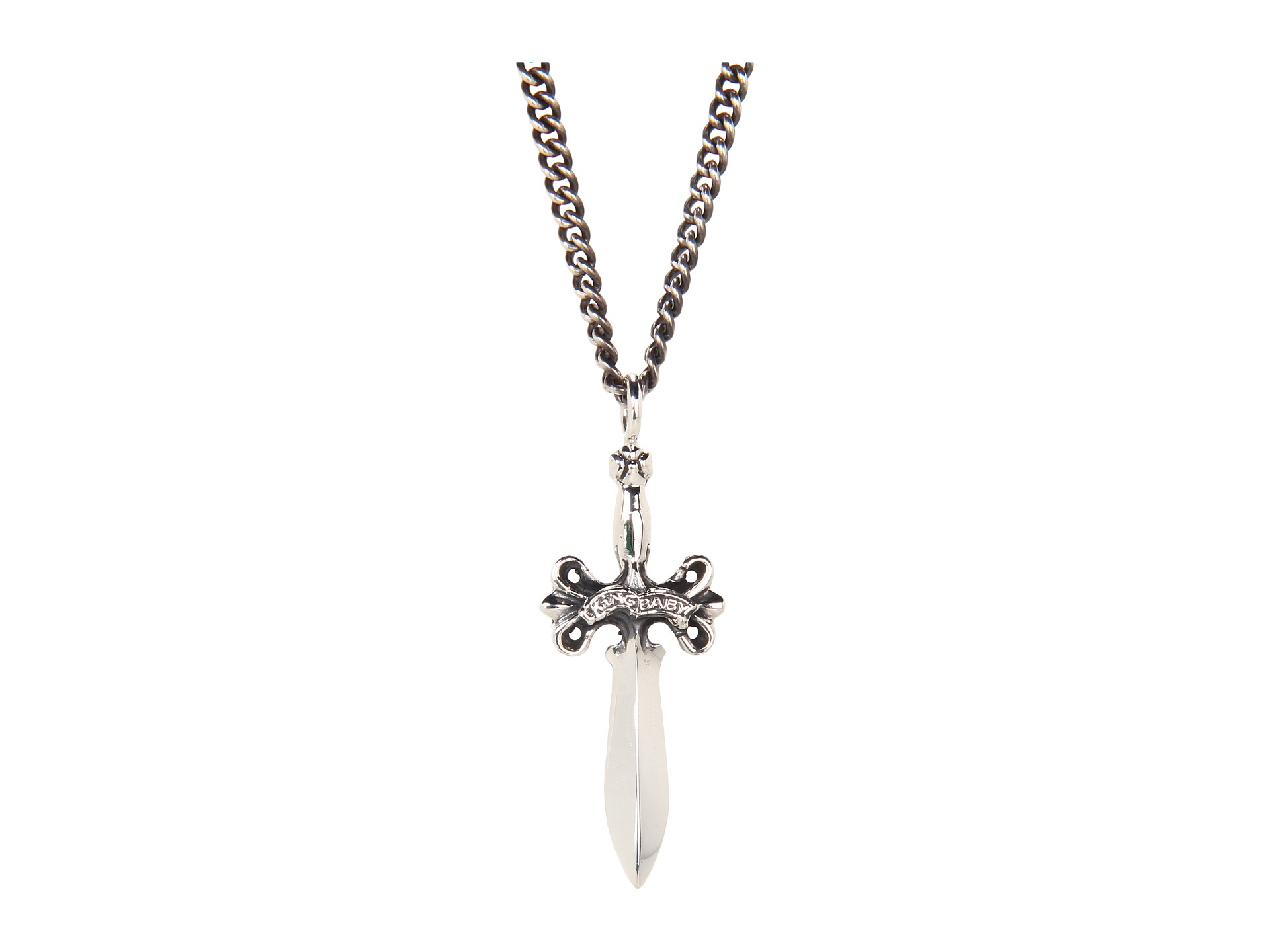 King baby studio small dagger pendant necklace in metallic for Baby jewelry near me