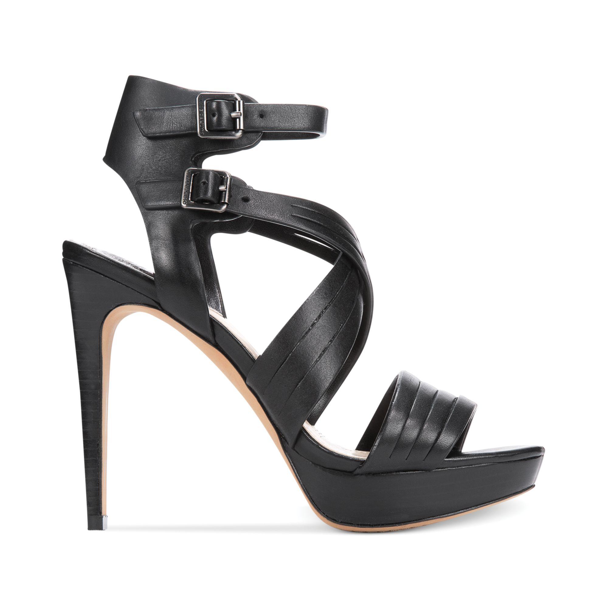 Lyst Vince Camuto Jistil High Heel Platform Sandals In Black
