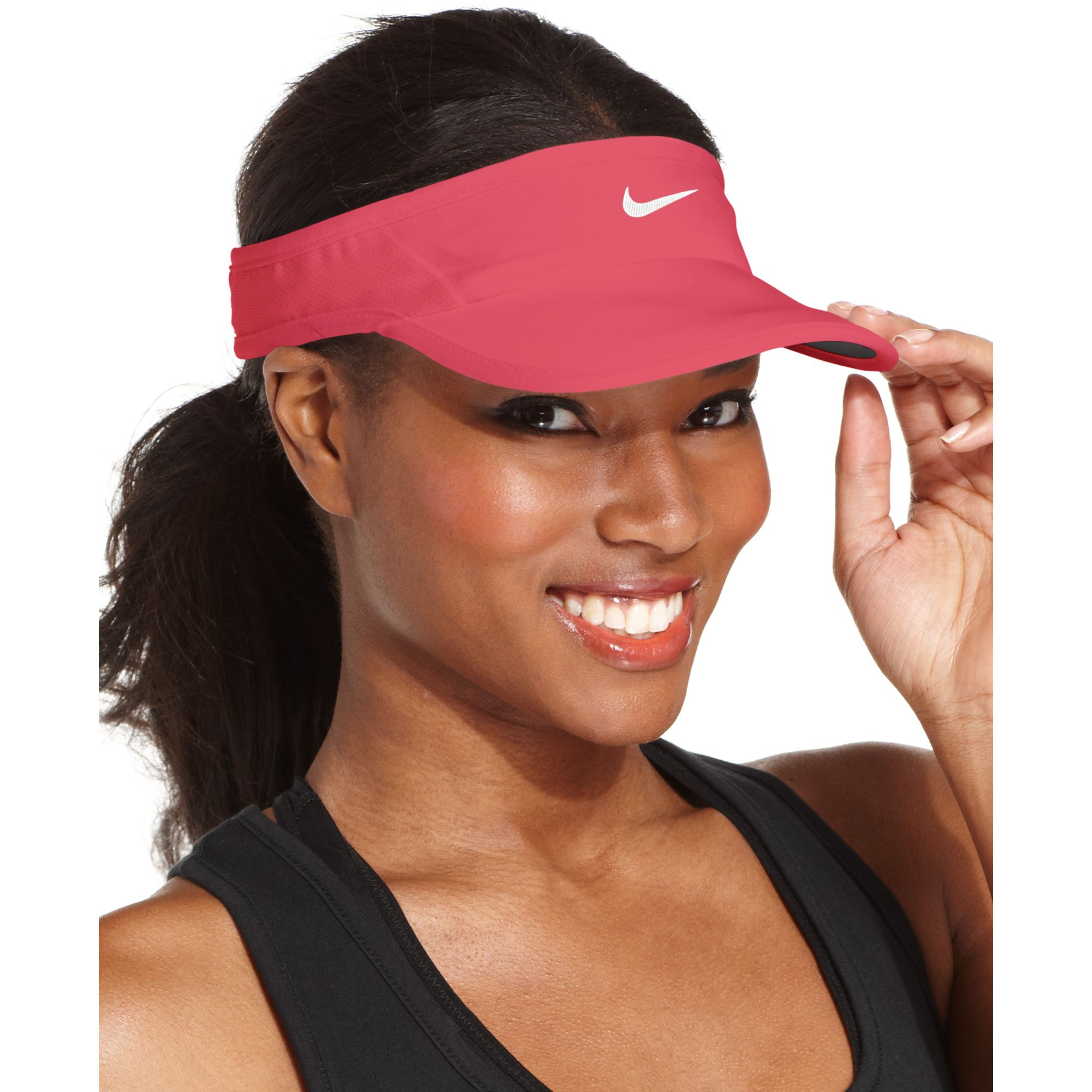 Lyst - Nike Featherlight 20 Drifit Visor in Pink 4055462ad43