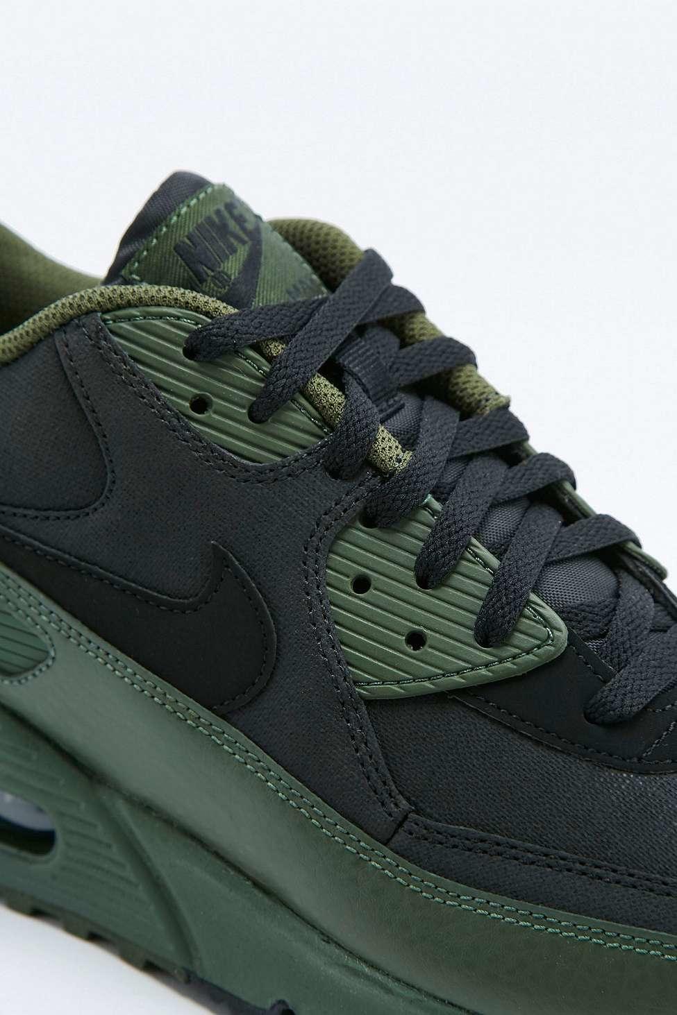 Nike Air Max 90 Winter Premium Khaki Trainers In Green For