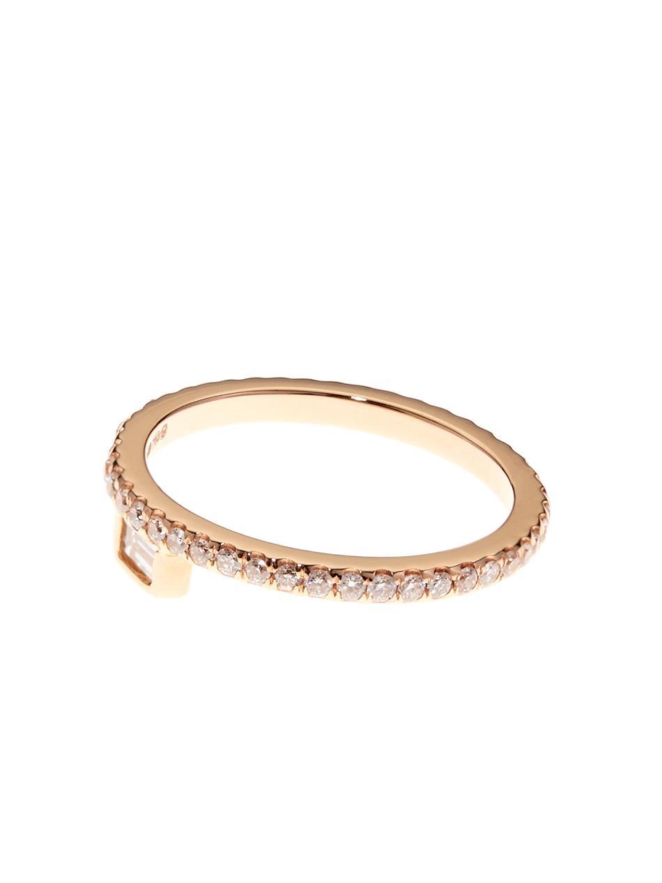 Noor Fares Diamond, multi-stone & yellow-gold pinky ring