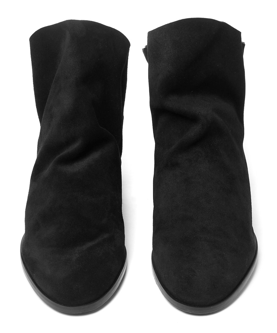 Stuart Weitzman Black Sprite Suede Ankle Boots