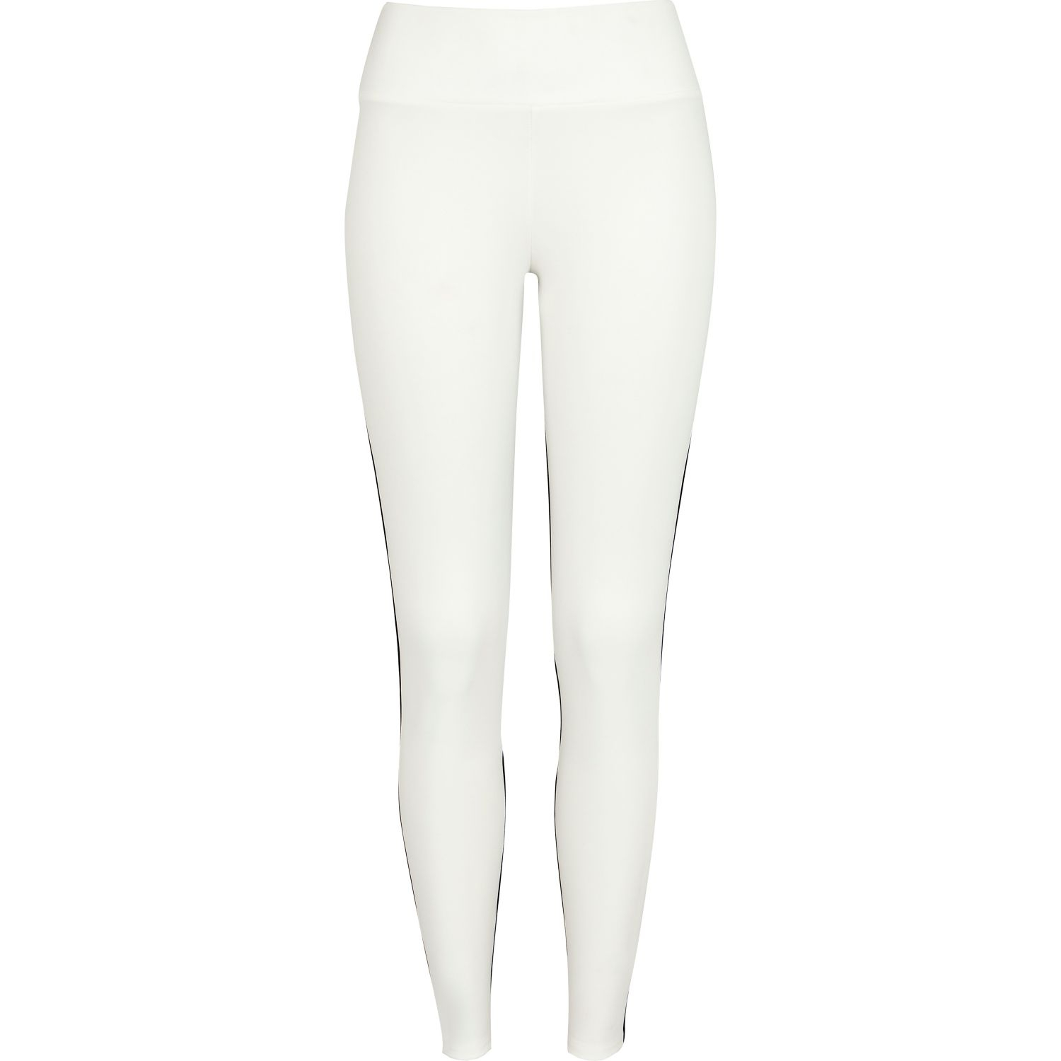 51ab7c3011bc61 River Island Black and White Color Block Leggings in White - Lyst