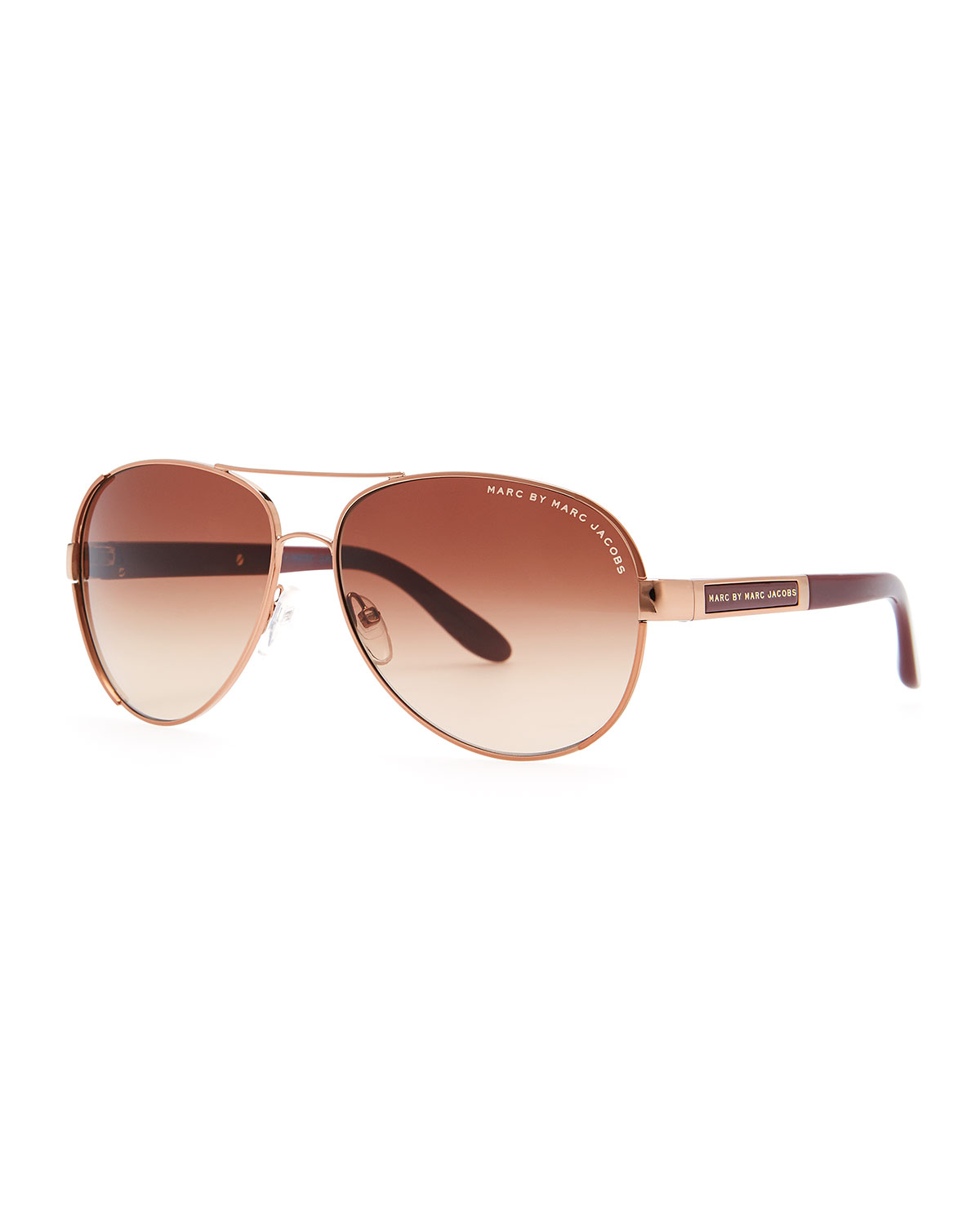 d1312362b5545 Marc By Marc Jacobs Rose Golden Aviator Sunglasses in Pink - Lyst