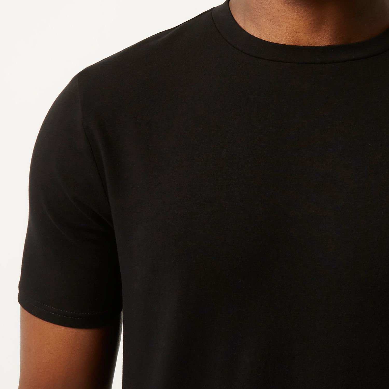 River Island Black Muscle Fit T Shirt In Black For Men Lyst