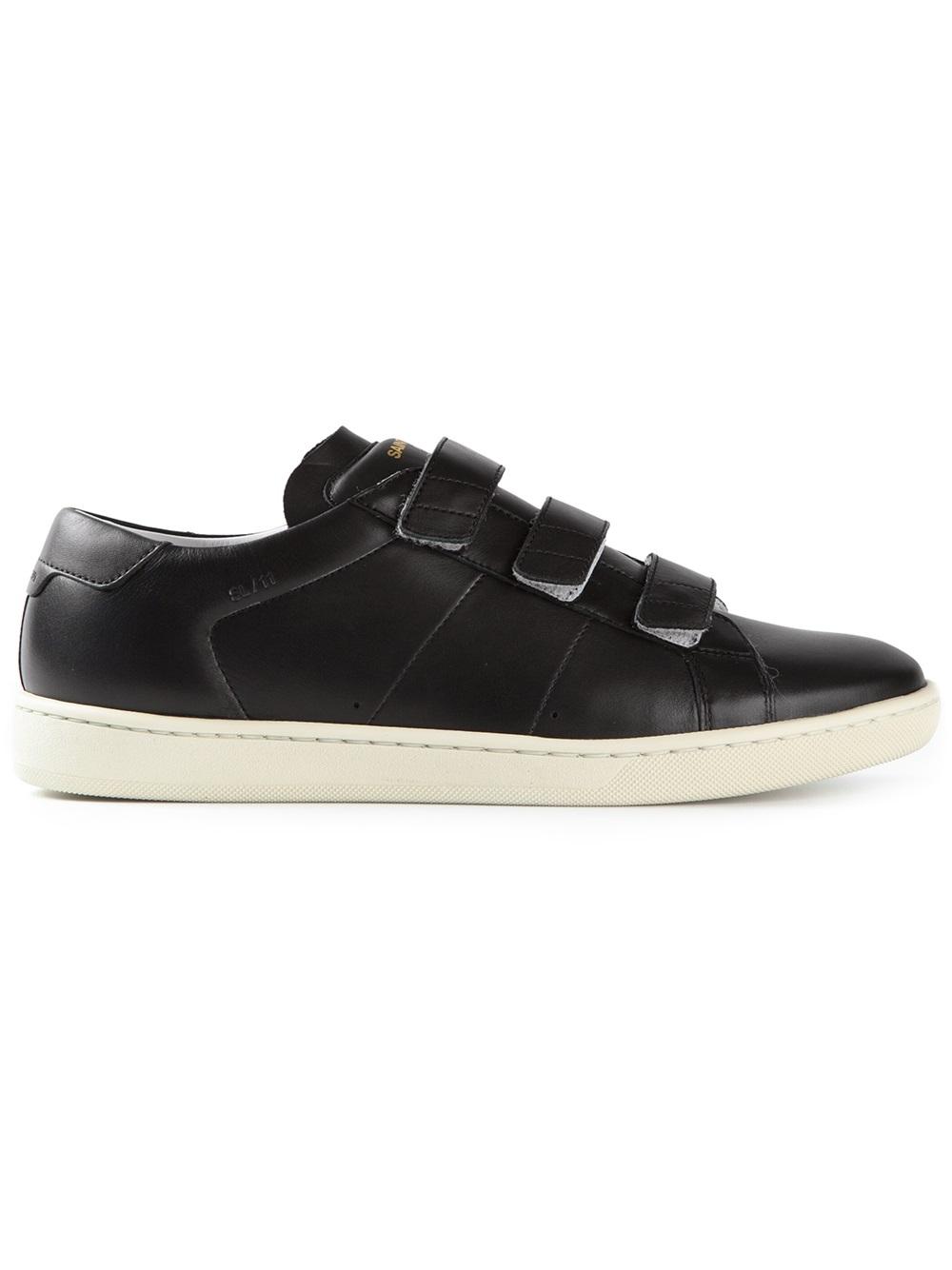Saint Laurent Velcro Sneakers in Black