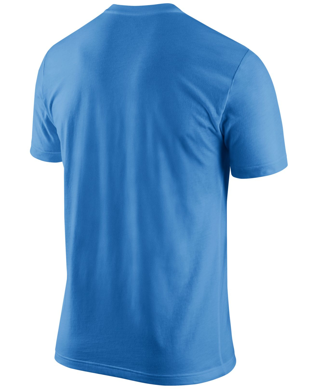 Nike men 39 s san diego chargers team spirit t shirt in blue for T shirt screen printing san diego