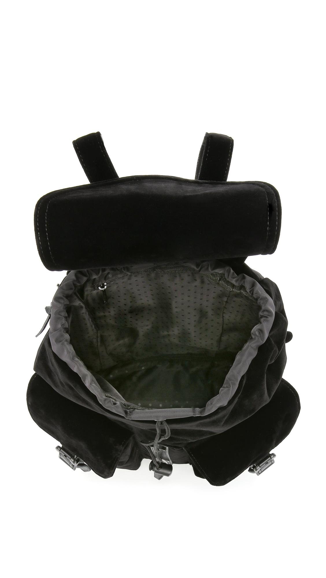 Lyst - Herschel Supply Co. Velvet Dawson Backpack - Black in Black 02a575223c767