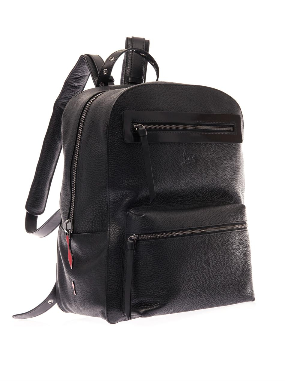 Christian Louboutin Aliosha Leather Backpack in Black for ...