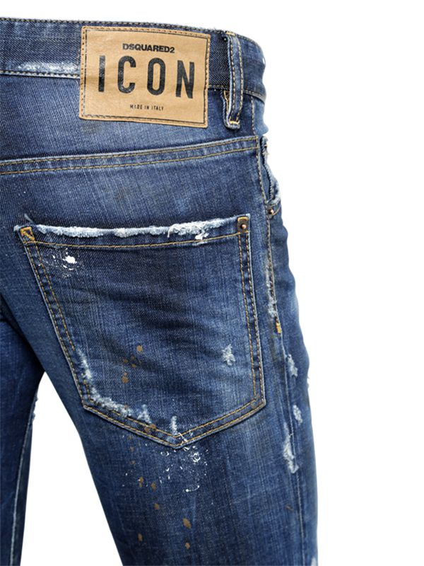 DSquared² 16.5cm Clement Muddy Stretch Denim Jeans in Blue for Men