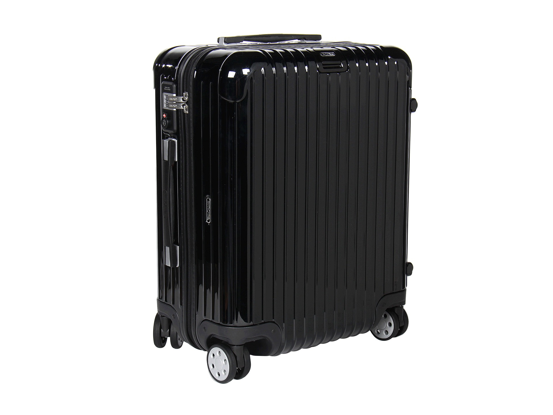 rimowa salsa deluxe cabin multiwheel in black lyst. Black Bedroom Furniture Sets. Home Design Ideas
