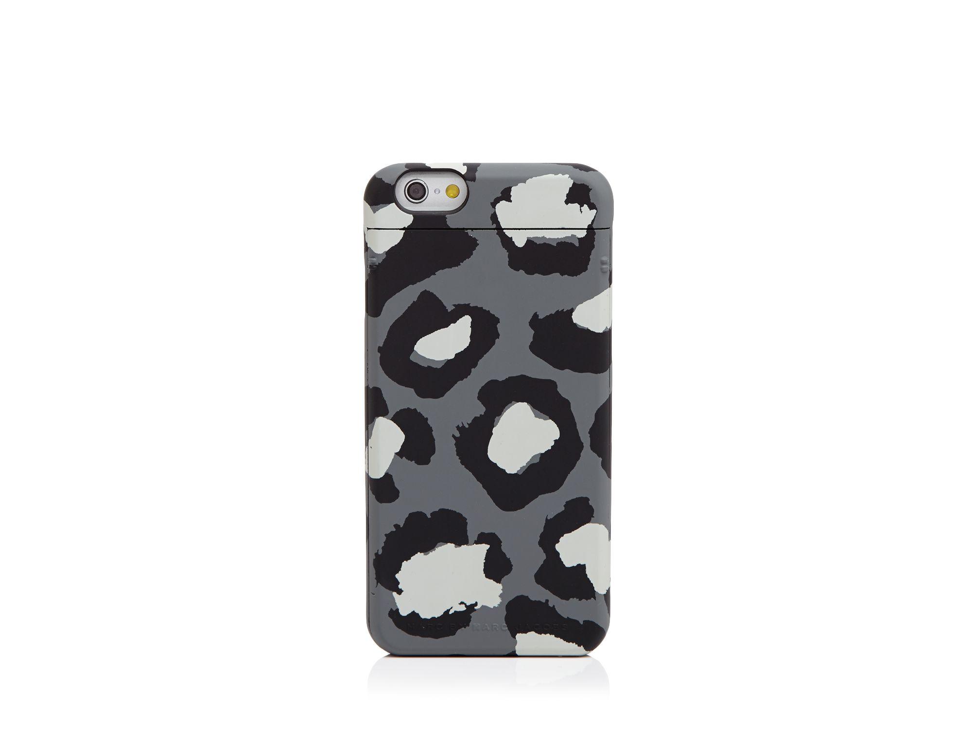 marc by marc jacobs poker face leopard print iphone 6 case. Black Bedroom Furniture Sets. Home Design Ideas