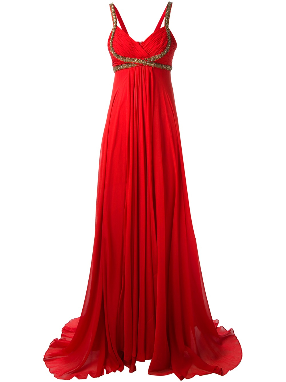 Notte By Marchesa Embellished Evening Gown In Red Lyst
