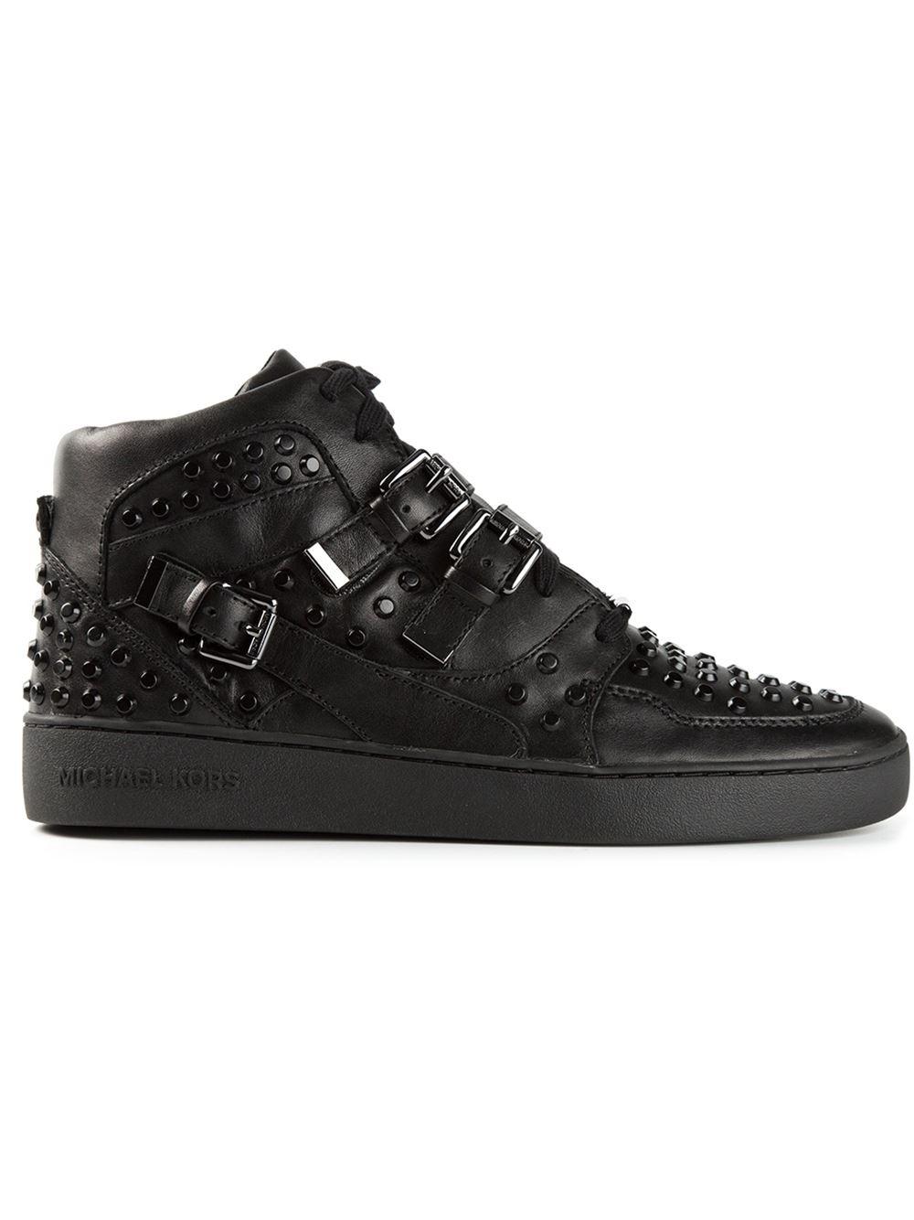 MICHAEL Michael Kors 'Bryn' Hi-Top Sneakers in Black